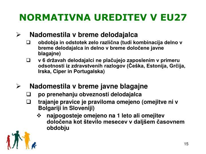 NORMATIVNA UREDITEV V EU27
