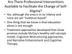 are there professional interventions available to facilitate the change of self stigma