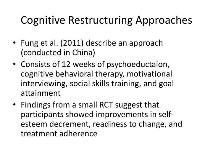 Cognitive Restructuring Approaches