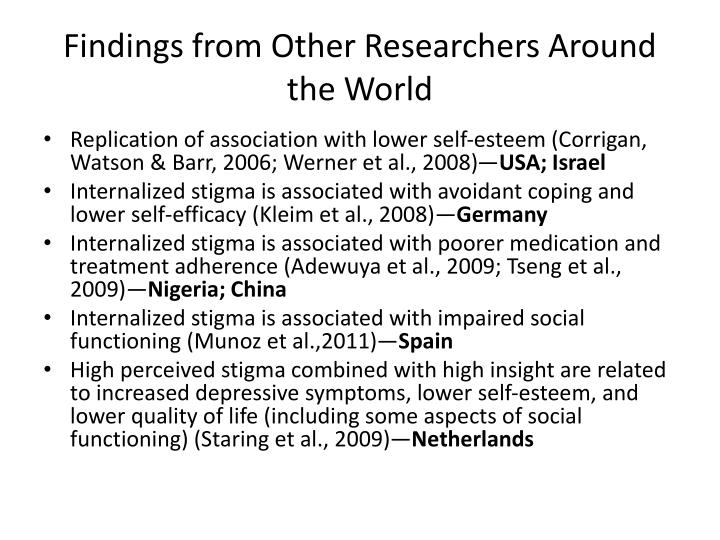 Findings from Other Researchers Around the World