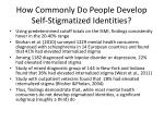 how commonly do people develop self stigmatized identities