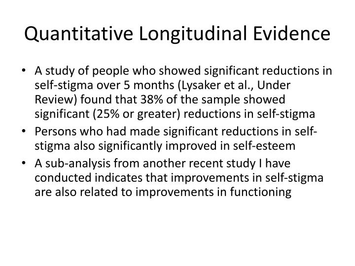 Quantitative Longitudinal Evidence
