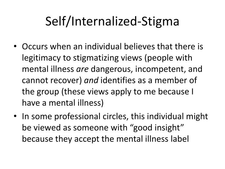 Self/Internalized-Stigma