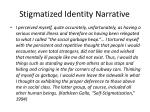 stigmatized identity narrative