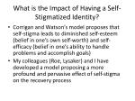 what is the impact of having a self stigmatized identity