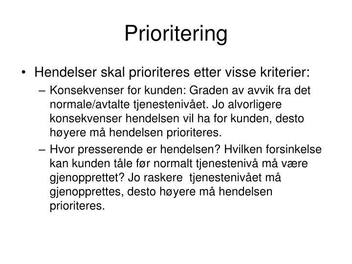 Prioritering