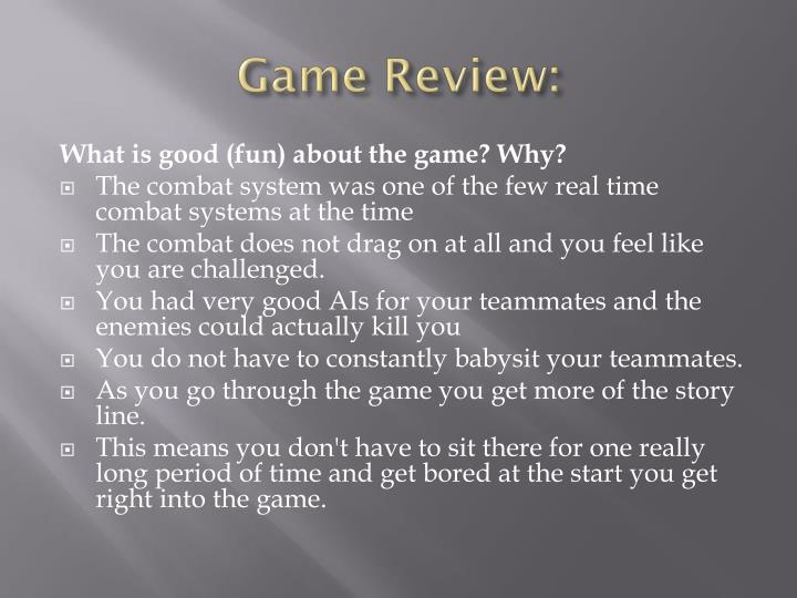 Game Review: