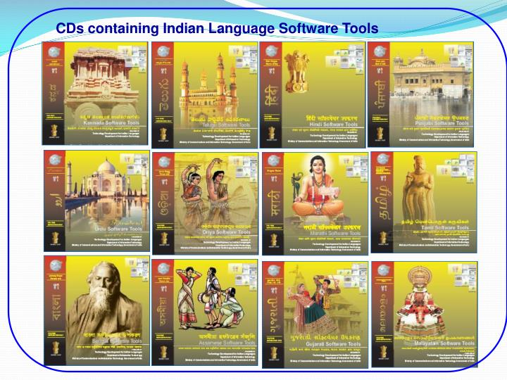 CDs containing Indian Language Software Tools