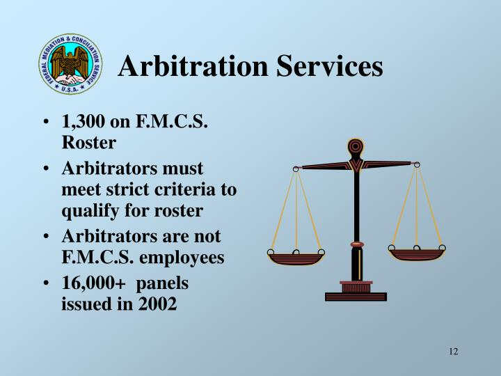 Arbitration Services