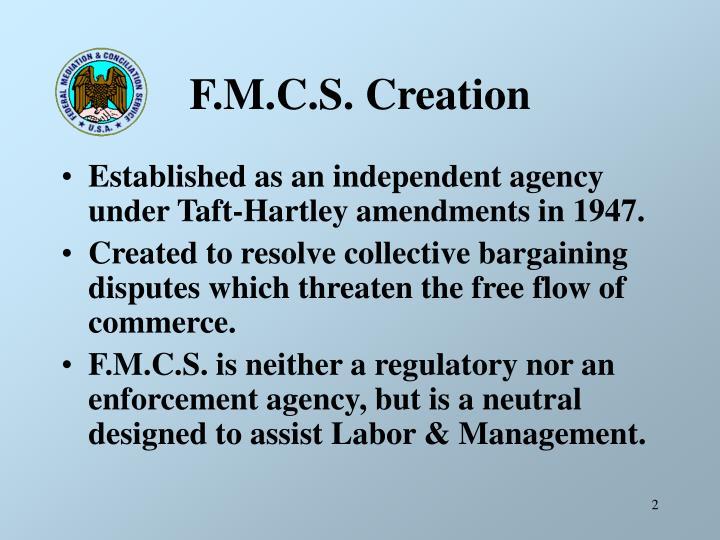 F.M.C.S. Creation