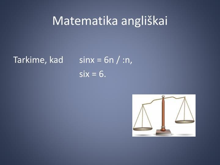 Matematika angliškai
