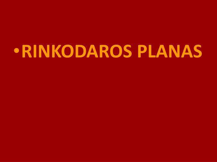 RINKODAROS PLANAS