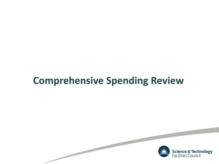 Comprehensive Spending Review