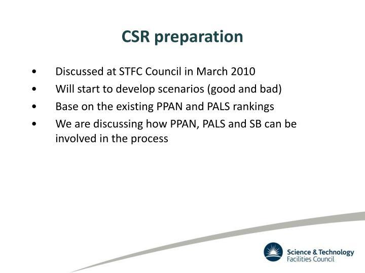 CSR preparation