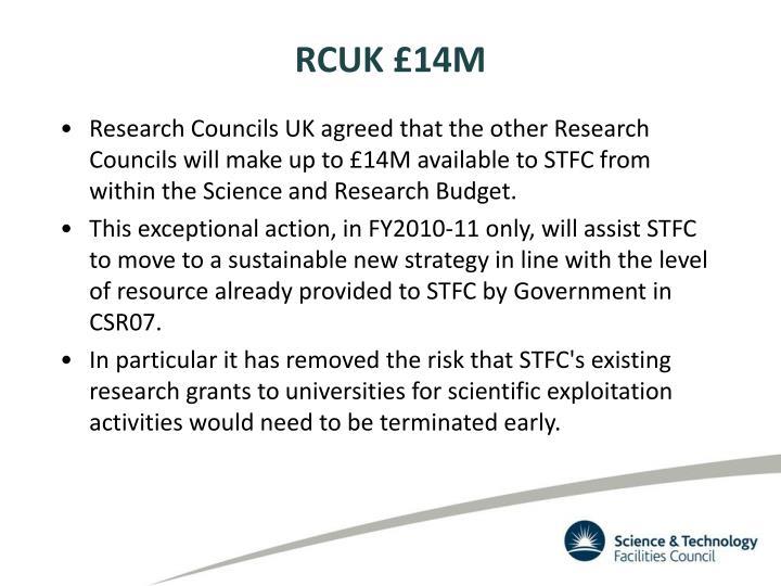 RCUK £14M