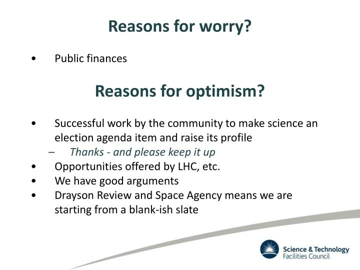 Reasons for worry?