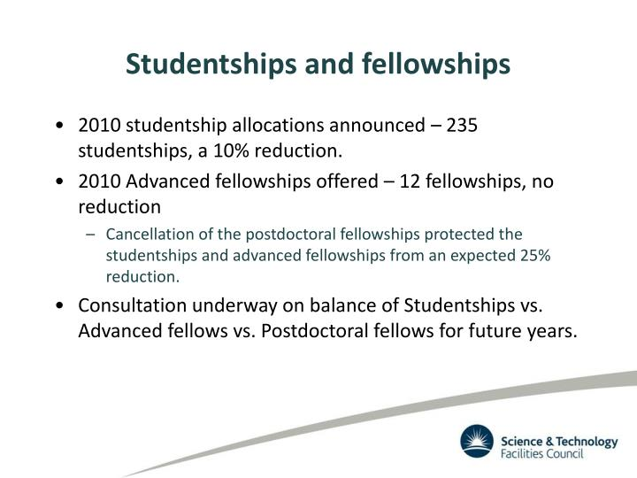 Studentships and fellowships