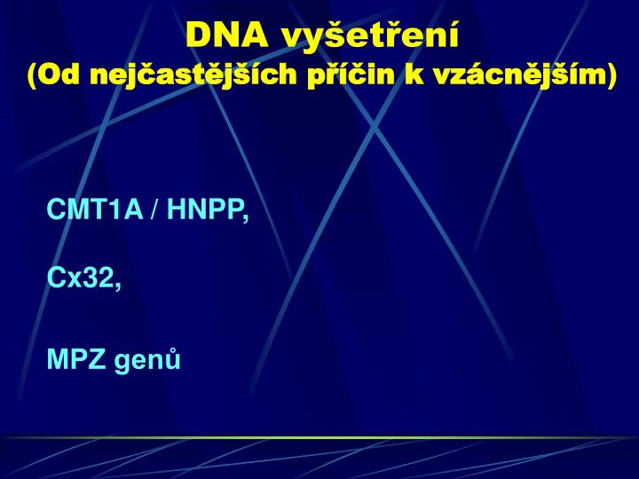 DNA vyšetření