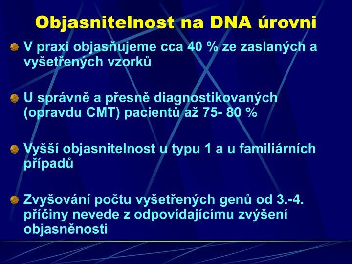 Objasnitelnost na DNA úrovni