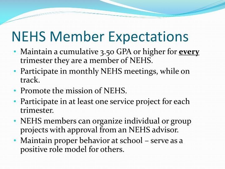 NEHS Member Expectations