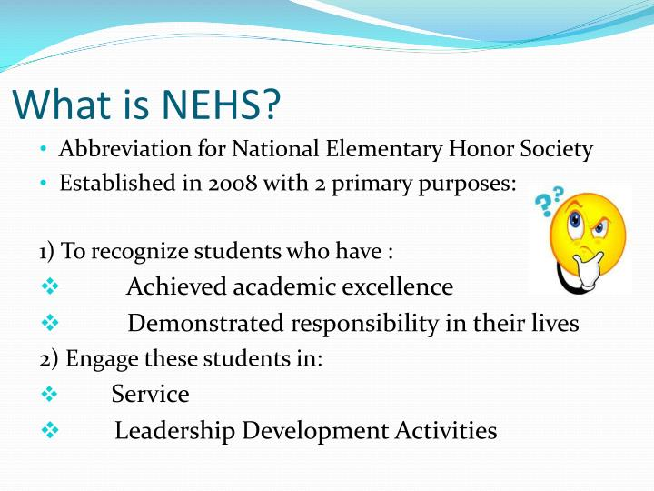What is NEHS?