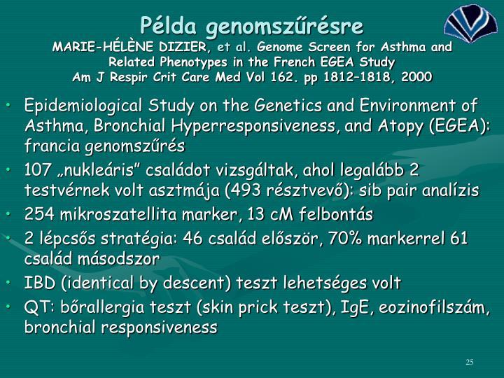 Példa genomszűrésre