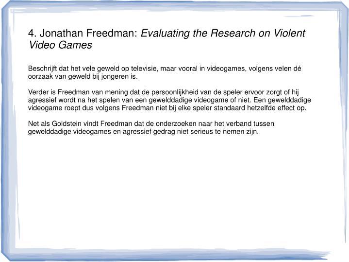 4. Jonathan Freedman: