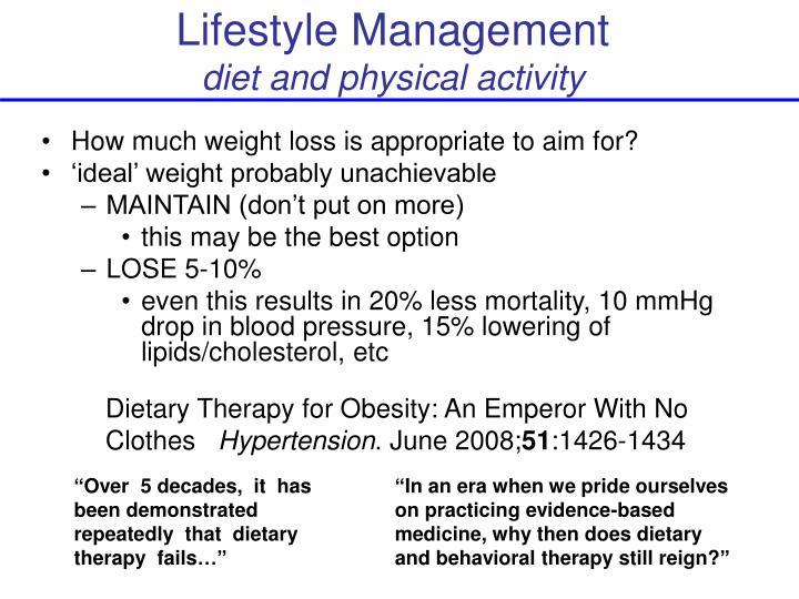 Lifestyle Management