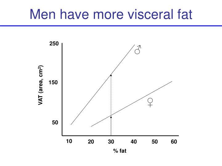 Men have more visceral fat