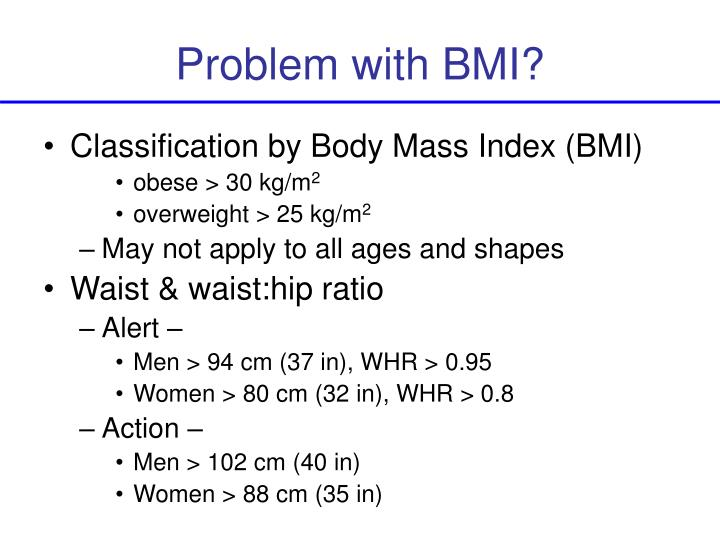 Problem with BMI?