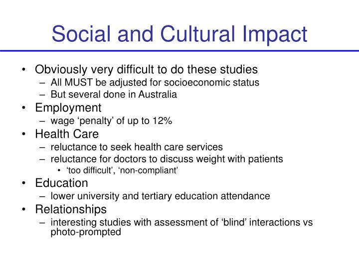 Social and Cultural Impact