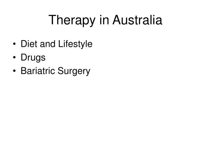 Therapy in Australia