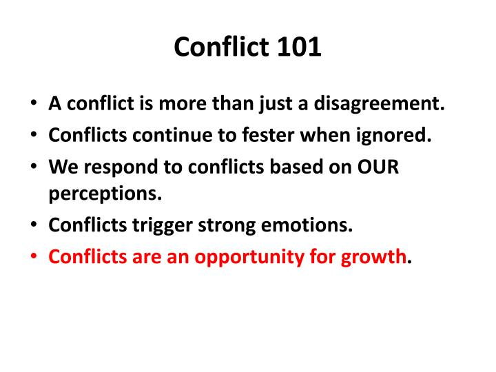 Conflict 101