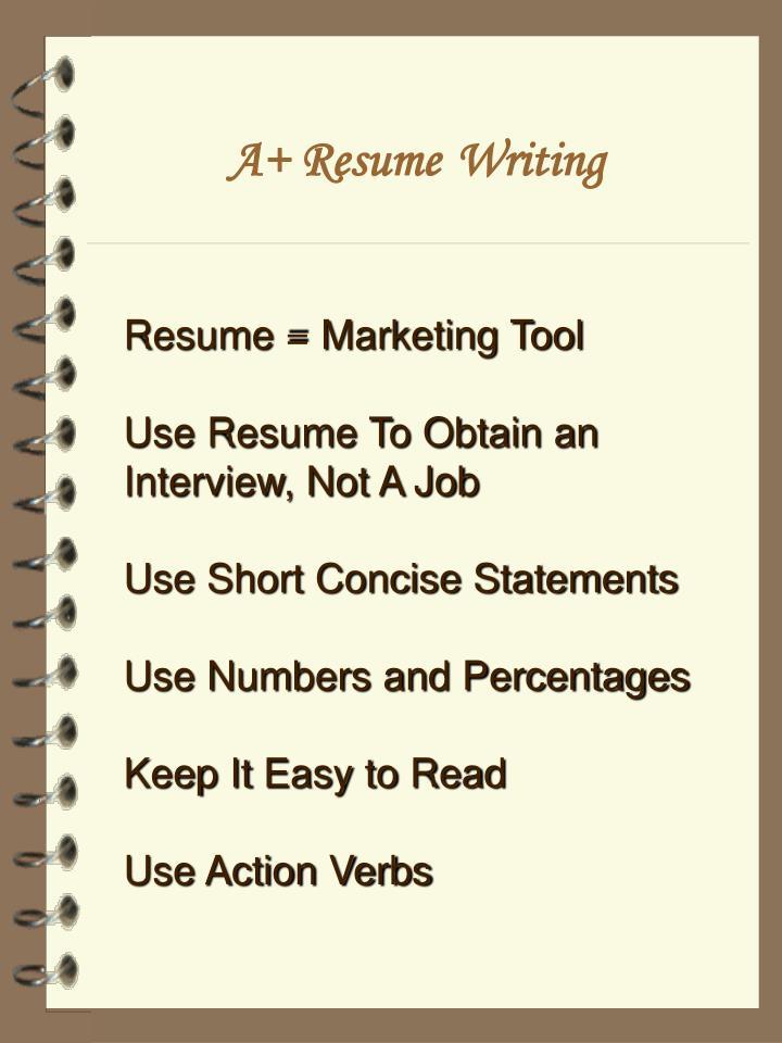 A+ Resume
