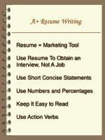 a resume writing