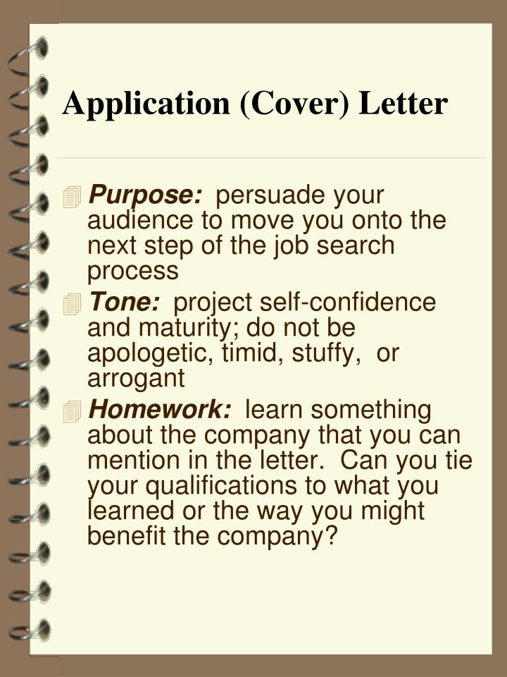Application (Cover) Letter