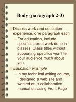body paragraph 2 3