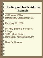 heading and inside address example