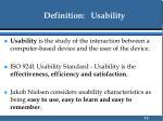 definition usability
