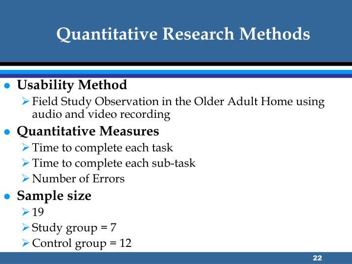 Quantitative Research Methods