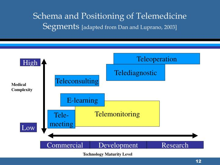 Schema and Positioning of Telemedicine Segments