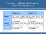 technology and older adult research representative sample size