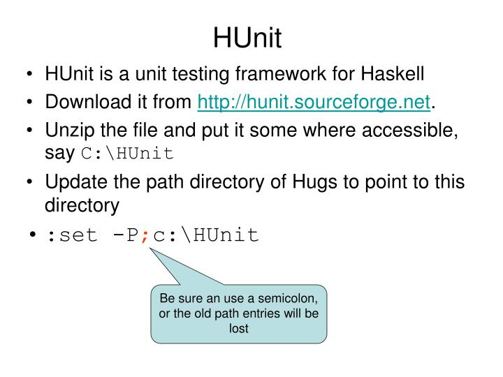 HUnit