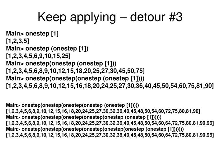 Keep applying – detour #3