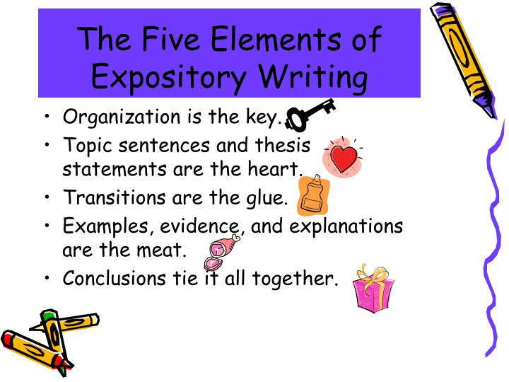 key elements of an expository essay This video will help you understand the key elements needed in writing an expository essay.