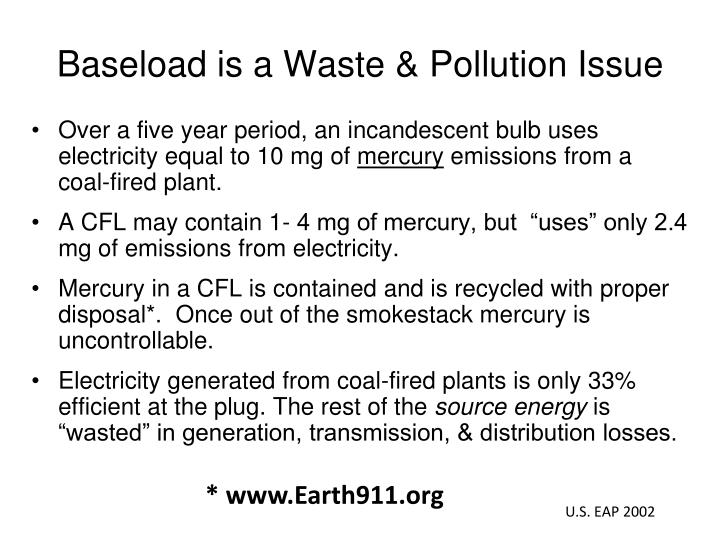 Baseload is a Waste & Pollution Issue