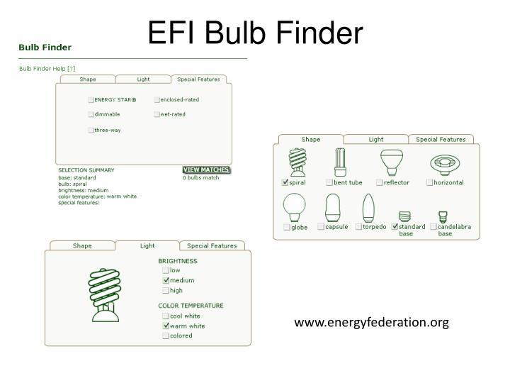 EFI Bulb Finder