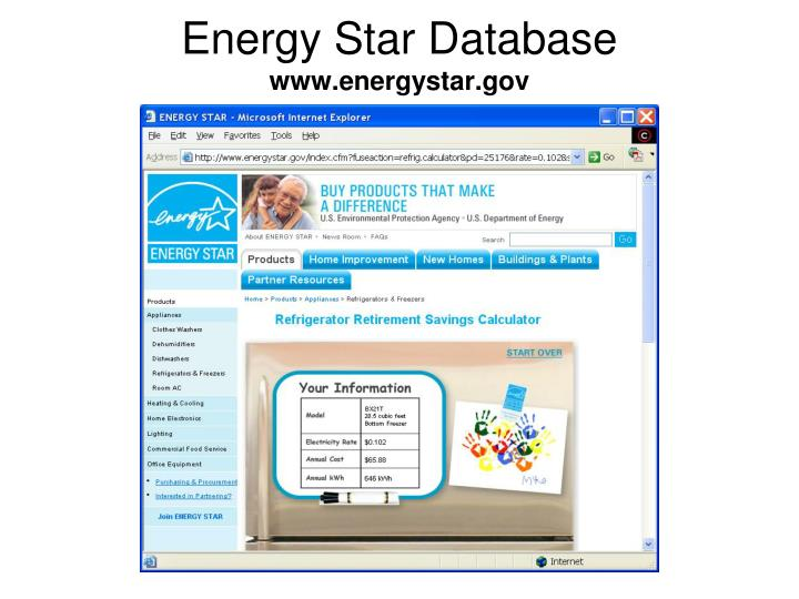 Energy Star Database