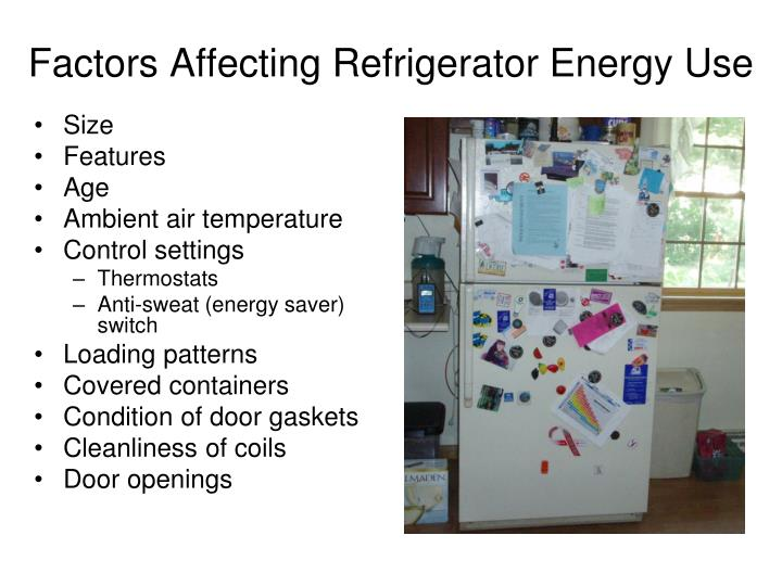 Factors Affecting Refrigerator Energy Use