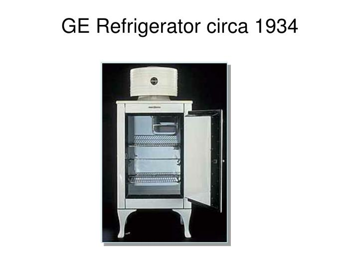 GE Refrigerator circa 1934